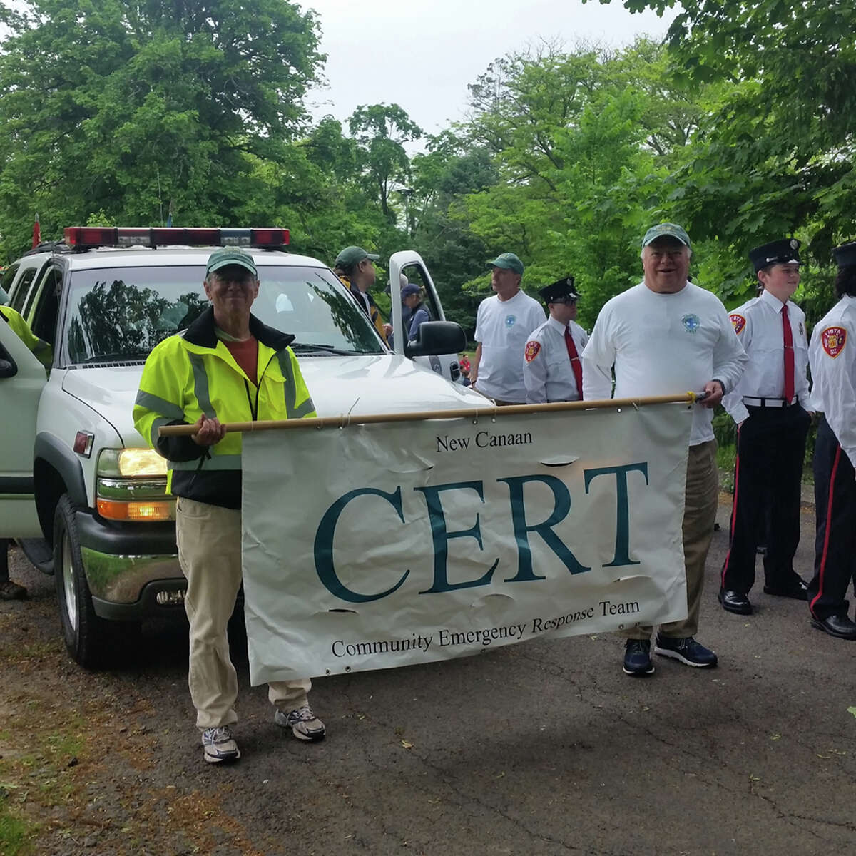 New Canaan Community Emergency Response Team volunteers are taught how to keep themselves, and others, save during an emergency. Contributed photo