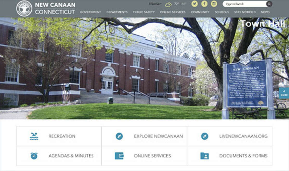 The Town of New Canaan unveiled a new look to its website, newcanaan.info, on Monday, June 17, 2019. Pam Flynn / Town of New Canaan First Selectman Kevin Moynihan's Office / Contributed photo