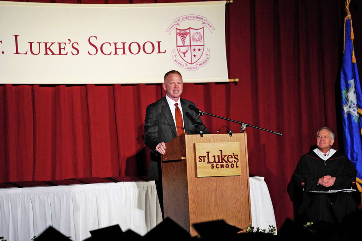 New Canaan: James Andersen of Wilton is the chair of the St. Luke's Academy Board of Trustees. He addressed graduates at their commencement exercises on May 31. Commencement 2019 at St. Luke's School in New Canaan, CT, on Friday, May 31, 2019. Desiree Smock / Contributed photo