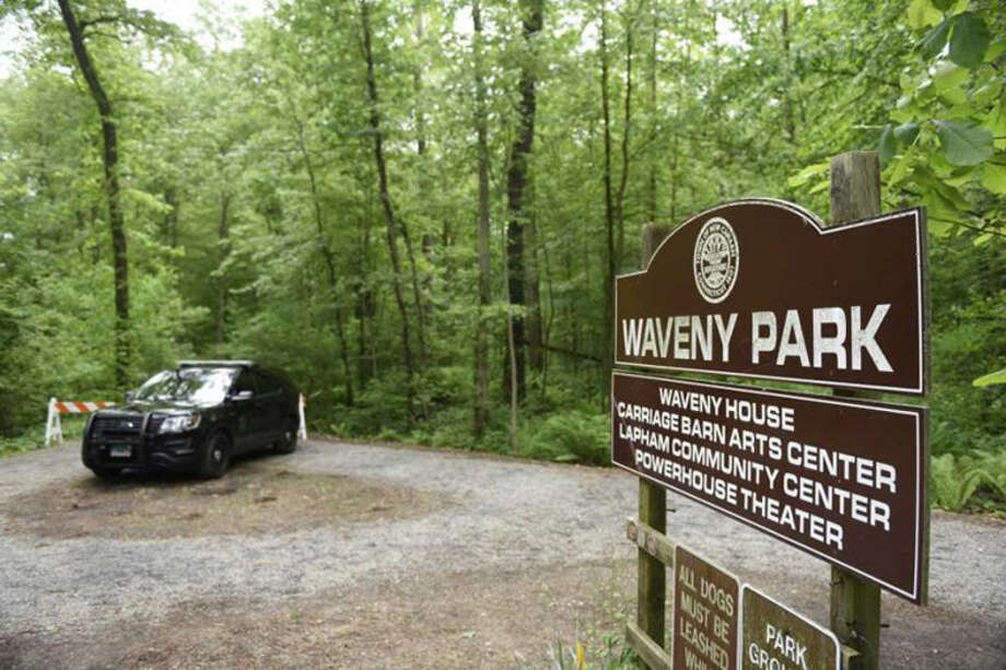 The New Canaan Parks, and Recreation Commission seeks answers about putting cameras in New Canaan, Conn.'s Waveny Park. Seemingly to lack the irony, some women refused to let their comments be used by the Advertiser after they were questioned — all while complaining how there was not enough awareness generated the first week after the mother of five, Jennifer Dulos, disappeared. In Waveny Park, at least one person was seen passing FBI agents conducting a search as if all was well, only to stop and turn around upon seeing the media.Here is a Main and Elm item from the New Canaan Advertiser about a sign of sorry times. Contributed photo