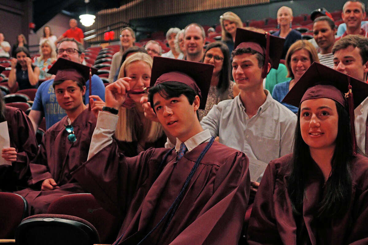 After Hunter Conetta missed St. Luke's School's 90th Commencement on May 31, the school community gathered June 6 to revisit the ceremony for him. Desiree Smock / Contributed photo