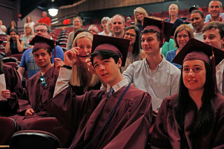 After Hunter Conetta missed St. Luke's School's 90th Commencement on May 31, the school community gathered June 6 to revisit the ceremony for him. Desiree Smock / Contributed photo / Connecticut Post