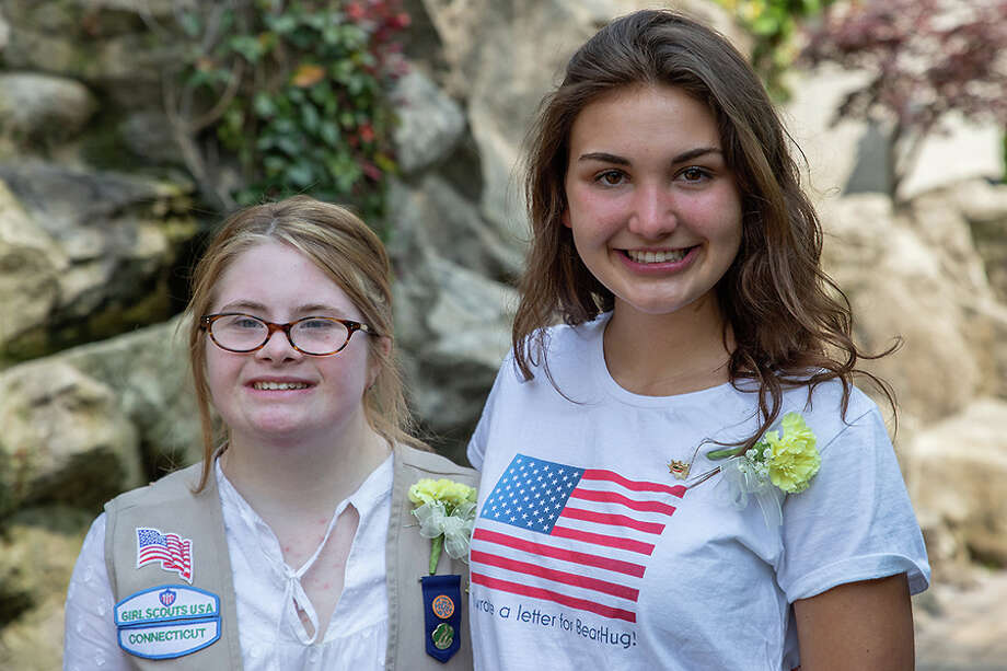 Molly Cioffi and Campbell Kinsman, both of New Canaan, have earned the Gold Award, the highest award in Girl Scouting. Barbara Connors / Girls Scouts / Contributed photo / Connecticut Post