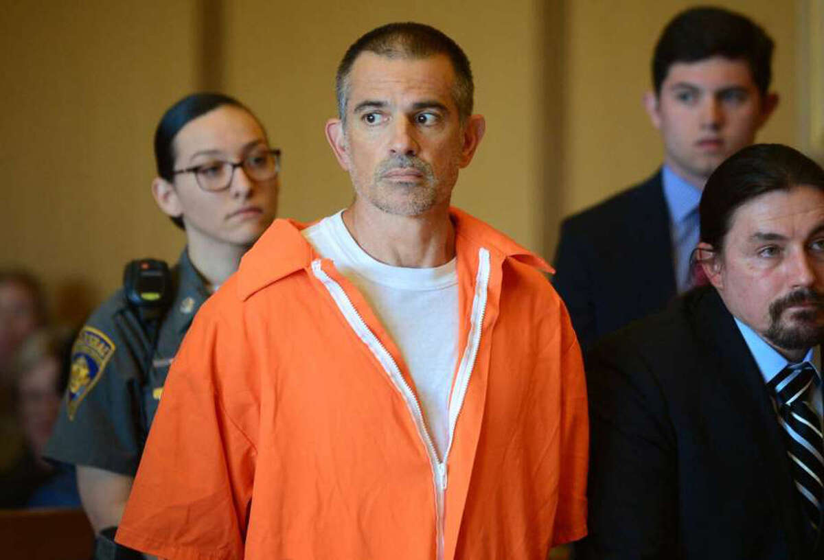 Fotis Dulos and his legal team including Norm Pattis, left, appeal bond in his appearance for tampering with evidence and hindering the investigation into the disappearance of his wife Jennifer Dulos at Stamford Superior Court Tuesday, June 11, 2019 in Stamford, Conn. Photo: Erik Trautmann / Hearst Connecticut Media