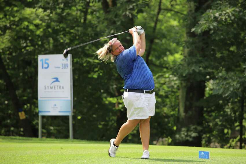Colleen Cashman-McSween during the first round of the Fuccillo Kia Classic of New York, a Symetra Tour event at Capital Hills. (Zach Sepanik / Symetra Tour)