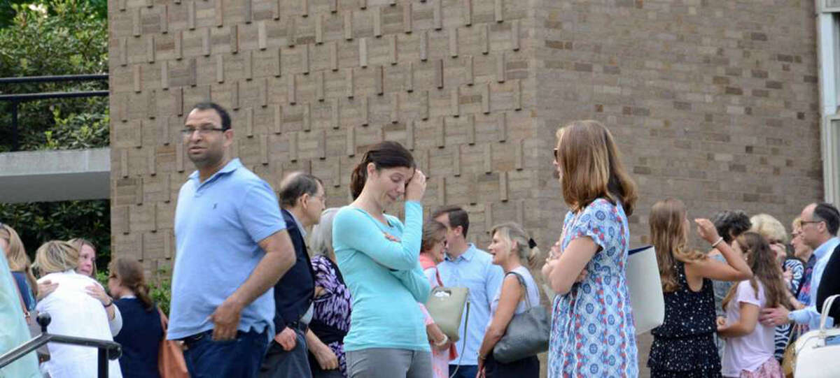 Members of the community gathered for a vigil at St. Mark's Episcopal Church in New Canaan on June 2, 2019 to pray for Jennifer Dulos, a mother of five, who has been missing for more than one week. Photo: Tatiana Flowers / Hearst Connecticut Media