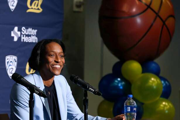 Charmin Smith is formally introduced as the new head coach of the Cal Bears women's basketball team at a news conference in Berkeley, Calif. on Tuesday, June 25, 2019. Smith replaces Lindsay Gottlieb, who left after eight seasons to become an assistant coach for the Cleveland Cavaliers.