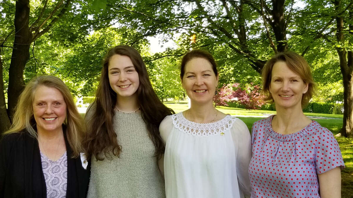P.E.O. Chapter N STAR Scholarship Co-Chairman Laura Dijs, New Canaan High School senior Kate Reeves, Chapter N member Julie Reeves, and P.E.O. Chapter N STAR Scholarship Chair Laura Turner at the announcement that Kate Reeves has won this year's P.E.O Star Scholarship. Contributed photo