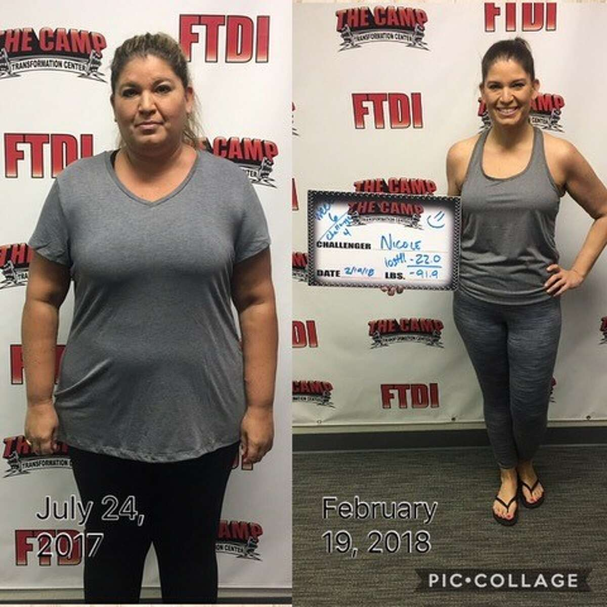 """Nicole Jackson, 43, shared her 91-pound weight loss story with mySA.com. Her journey started in 2017 at The Camp, a """"transformation center"""" at 431 Isom Road."""