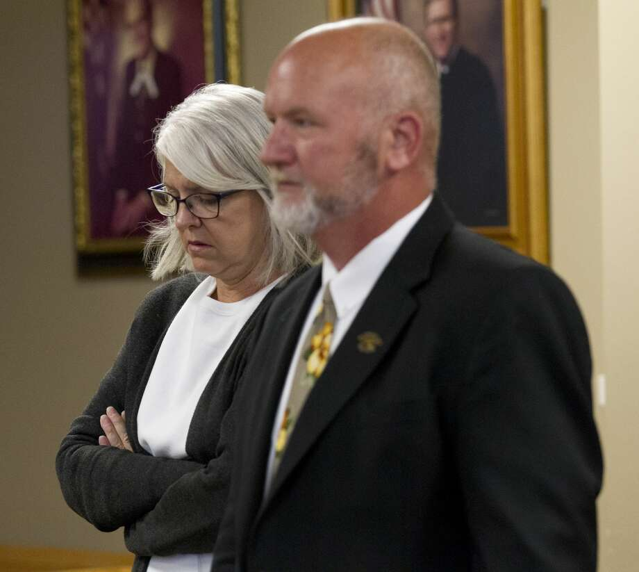 Terri Jaggers enters the 9th state District Court of Phil Grant beside her attorney E. Tay Bond at the Lee G. Alworth Building, Tuesday, June 25, 2019, in Conroe.  Jaggers pleaded guilty and was sentenced to three days in the Montgomery County Jail for misdemeanor theft and a third degree felony charge of misapplication of fiduciary property for using more than $50,000 from nonprofit organization Orphan Care Solutions of Texas to fund home improvements and personal vacations. Photo: Jason Fochtman/Staff Photographer