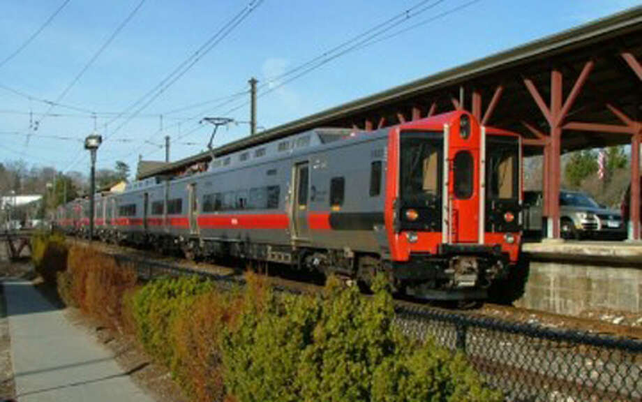 A train previously at the New Canaan Train Station. Contributed photo