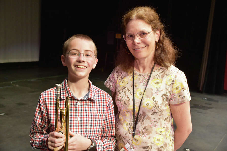 "Sixth grader Timothy Orelup has composed an original song, ""Prisoners of Davy Jones,"" which will premiere during the Saxe Spring Concert, led by music teacher Janet Rosen, on Wednesday, May 22, 2019. New Canaan Public Schools / Contributed photo / Connecticut Post"