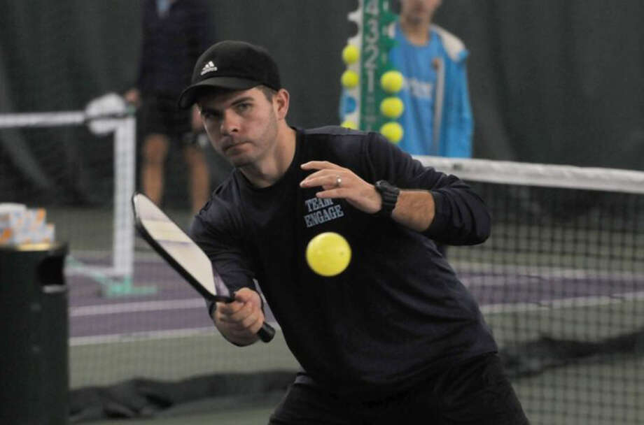 The New Canaan Parks and Recreation Commission agreed to revamp a tennis court for pickleball at Mead Park on May, 8, 2019. Grace Duffield / Hearst Connecticut Media