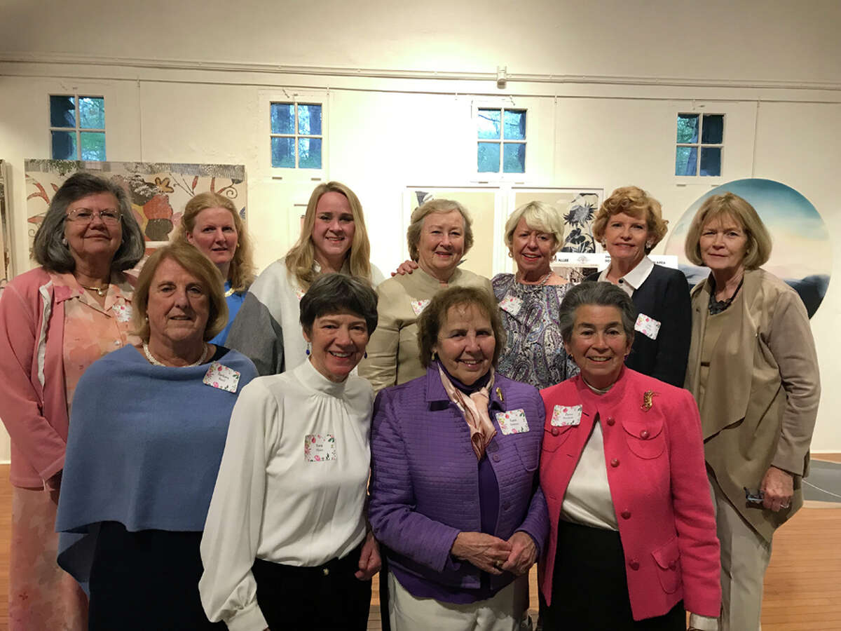 Past and current presidents of the New Canaan Beautification League, which began in 1939 as the Garden Center of New Canaan, gathered at the Carriage Barn in Waveny Park Sunday, April 26, to celebrate the organization's 80th anniversary. In front are current co-President Barbara Beall, Sara Hunt, current co-President Karen Sneirson, and Penny Mardoian. In back are Faith Kerchoff, Ann McCulloch, Debbie Raymond, Penny Young, Judy Bentley, Judy Neville and Carol Seldin. Jane Campbell also previously served as president. Contributed photo