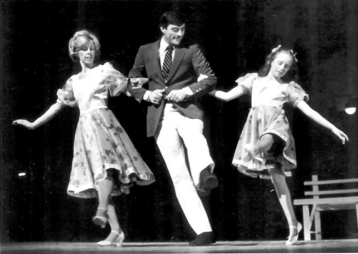 Walter Schalk dances at his 25th anniversary show. Walter Schalk dances with Susie Eynon, left, and Shauna McCarthy at his 25th anniversary show in 1982. - Walter Schalk School of Dance / Contributed photo