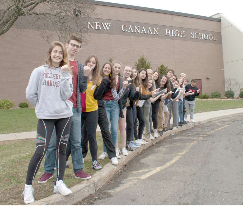 Seniors participating in the 32nd annual New Canaan High School Senior Art Exhibition are Liza Cuoco, Reid Dahill, Abigail Bergenheim, Jessica Driver, Rachel Driver, Skyler Davidson, Stavroula Gabriel, Isabella Hamilton, Timothy Hardy, Peter Harvey, Benjamin Levin,Diego Lezcano Garcia, Finlay Mackenzie, Caroline Mclaughlin, Sarah Murphy, Ava Nichols, Jackson Oehmler, Ann Pakhayev, Stephen Rivas, James Singer, Campbell Slazyk, Elaina Tiller, Gwenan Walker, and Emily Wasser. The show runs April 25 through June 20, 2019. — New Canaan High School / Contributed photo / Connecticut Post