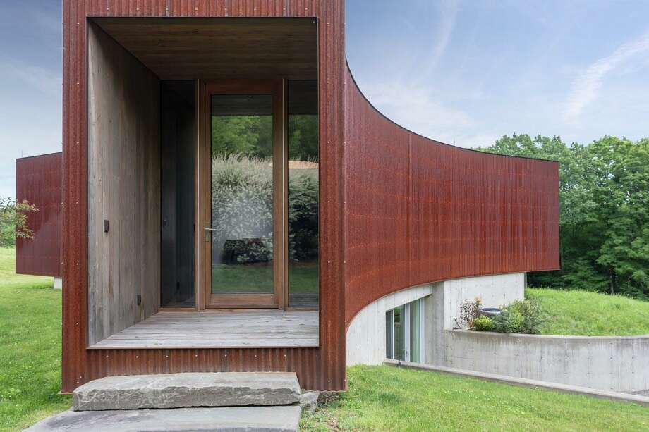 Klemm Real Estate, which has offices in the Litchfield Hills, has listed the only house in the United States designed by provocative Chinese artist Ai Weiwei. The modernist home located in Taghkanic, N.Y. Photo: Courtesy Of Klemm Real Estate / The News-Times Contributed