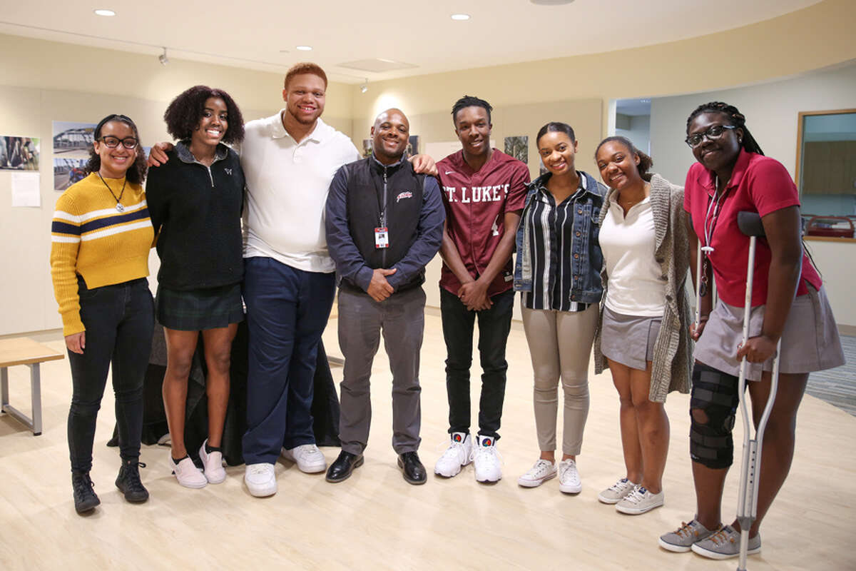 Members of St. Luke's Black Student Union who spearheaded a petition seeking an apology from the State of Alabama for Roy Hinton, who served 30 years in prison after being wrongfully convicted. - Valerie Parker / St. Luke's School / Contributed photo