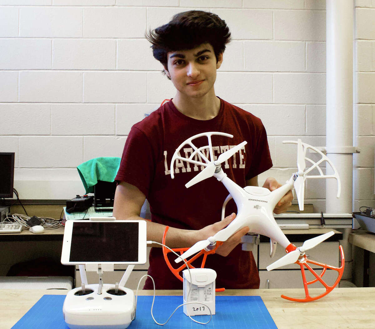 Pablo Villa, a junior at New Canaan High School, took first place in a national contest for drone videos. - New Canaan Public Schools / Emily Wasser / Contributed photo
