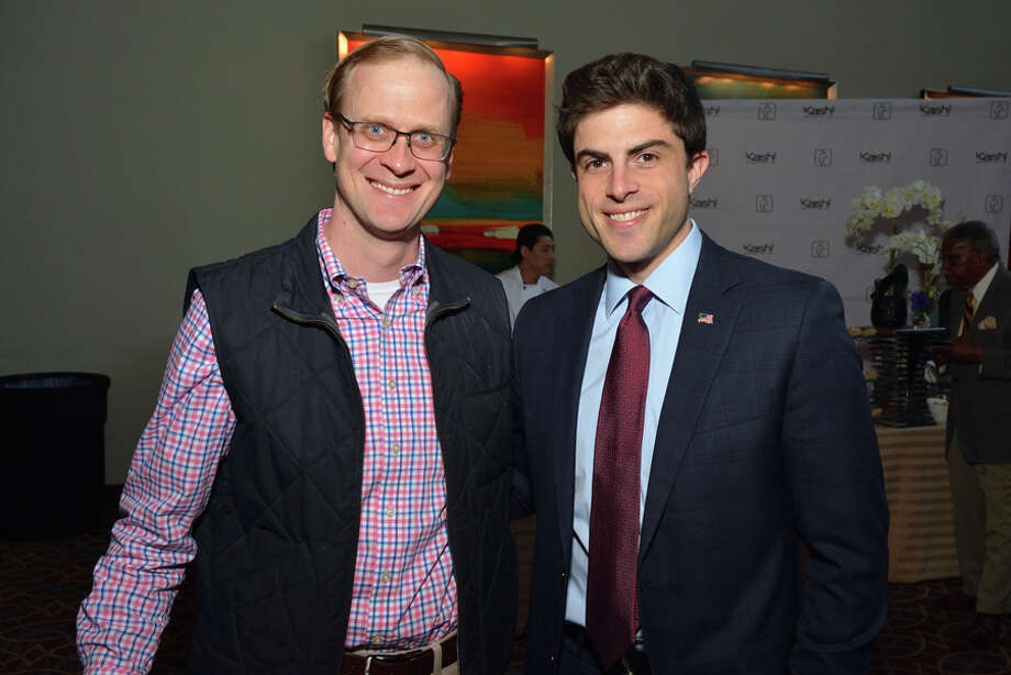 A benefit at Pacific House recently drew hundreds of people. The recent Pacific House Food & Wine Experience drew community leaders and many area residents to the Sheraton Stamford Hotel. The event raised nearly $40,000 to help homeless youth and the Pacific House Young Adult Program. Pacific House Board Chair Chris Tate is shown with State Rep. Matt Blumenthal at the event; Laura Roberts of Fairfield enjoys a cupcake from Natalie Rose, owner of The Cakery in Stamford. Pacific House fundraiser. Champion Hamilton / Contributed photos