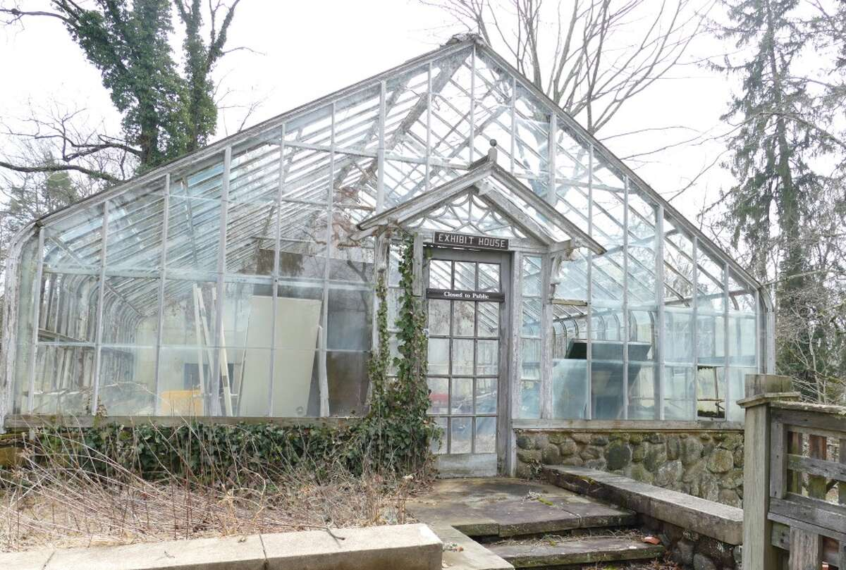 The greenhouse at the New Canaan Nature Center will be taken down and the foundation will be used for gardens. - Grace Duffield photo