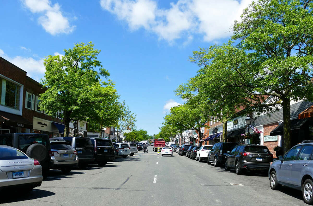 New Canaan: Gas comes to the shopping village this summer. Part of the shopping village in New Canaan one day last Summer, August 24, 2018. - Contributed photo