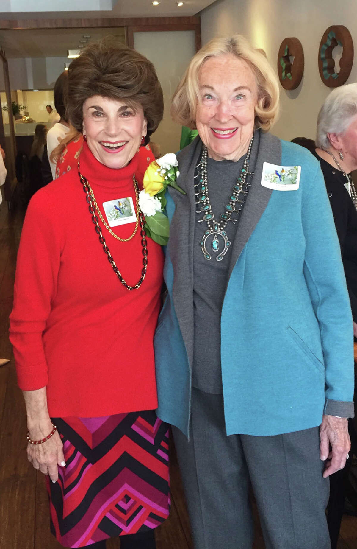 """The Congregational Church of New Canaan's Spring Luncheon on April 1, 2019 shined light on """"Women of Wisdom."""" Parry Grogan and Linda Maranis attend The Congregational Church of New Canaan's Spring Luncheon on April 1, 2019. - First Congregational Church of New Canaan / Contributed photo"""