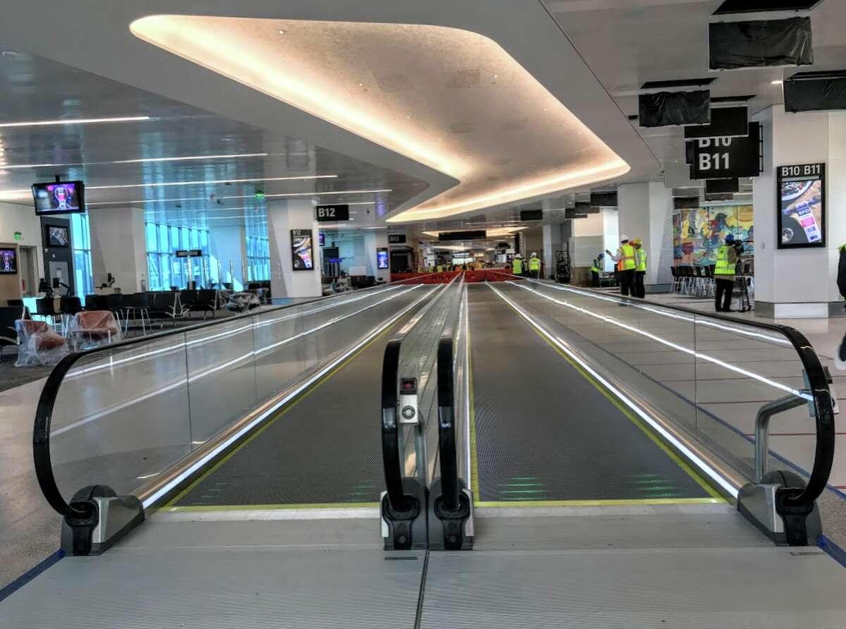 Main corridor in SFO's new Harvey Milk Terminal 1