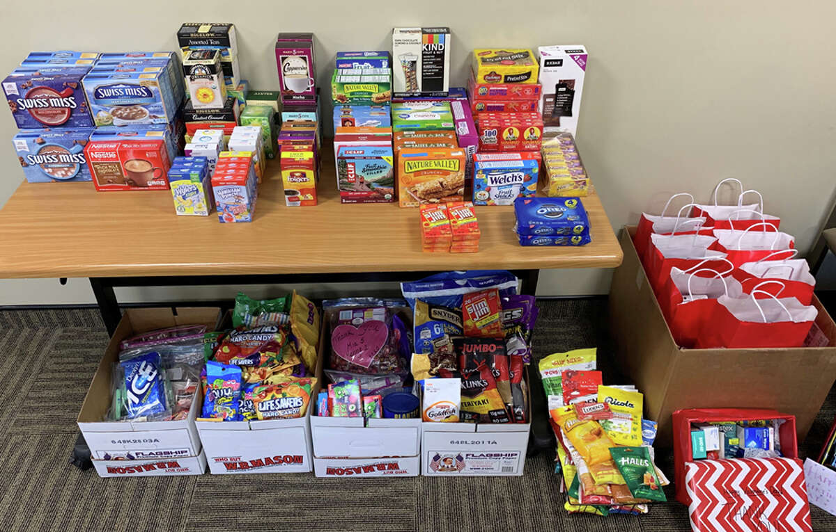 Food donated during the Soldier Supply Drive at Pediatric Healthcare Associates. - Contributed photo