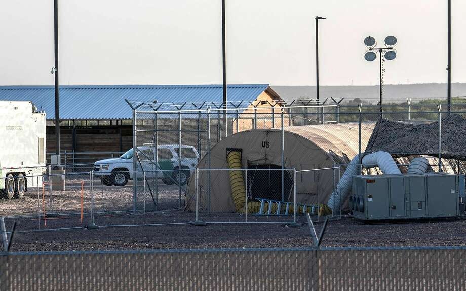 (FILES) In this file photo taken on June 21, 2019 a temporary facility set up to hold immigrants is pictured at a US Border Patrol Station in Clint, Texas. Photo: Paul Ratje, AFP/Getty Images