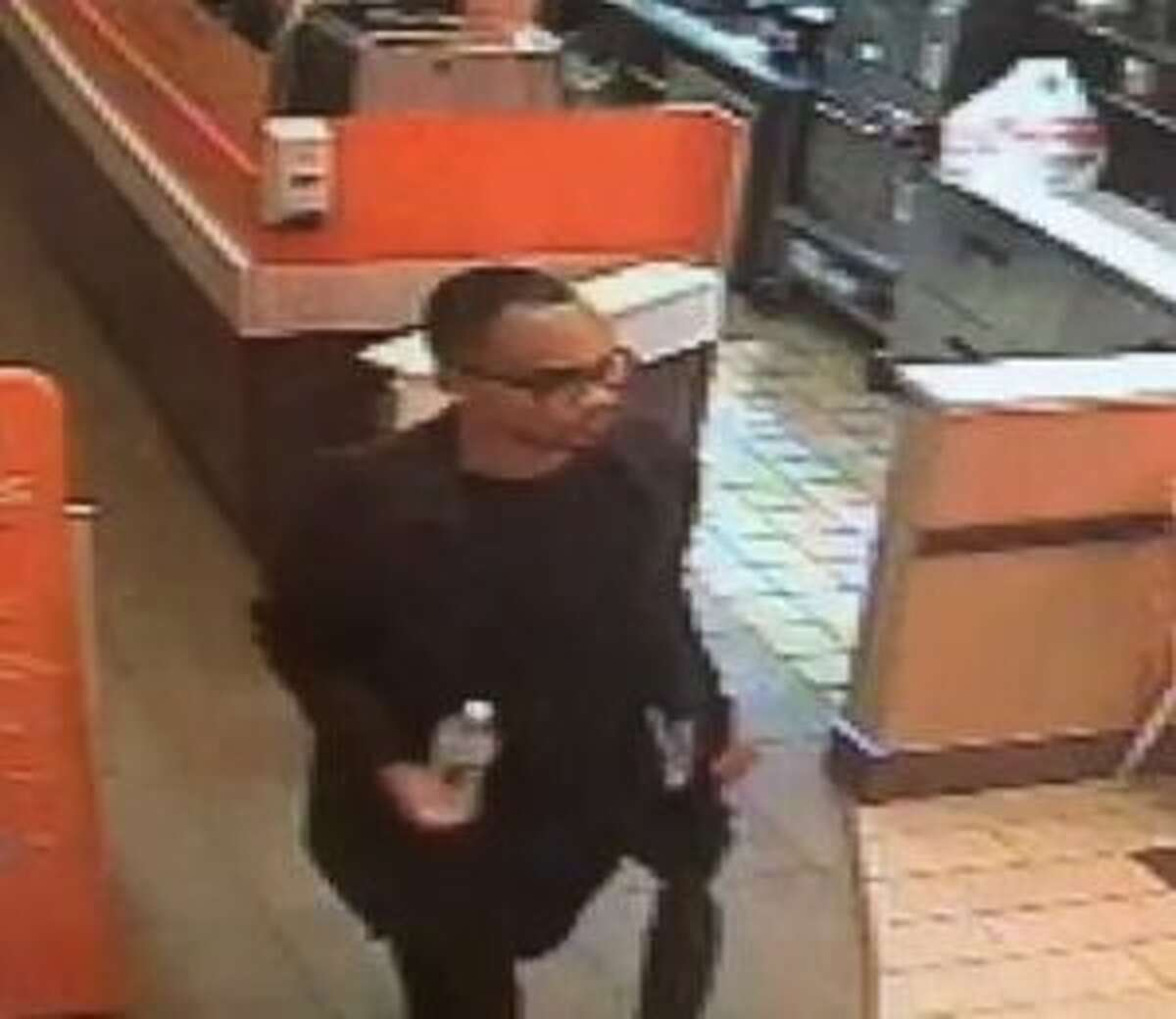 New Canaan Police suspect this man of asking two girls to join him in the bathroom at Dunkin' at 7:15 p.m. Thursday, March 21, and ask anyone who recognizes him to all them at 203-594-3500.