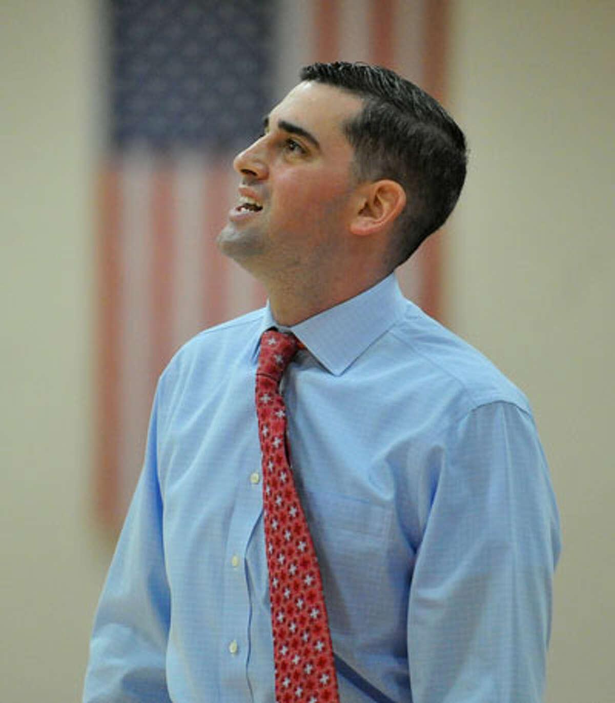 New Canaan boys basketball coach Danny Melzer. - Greg Vasil/Hearst Connecticut Media