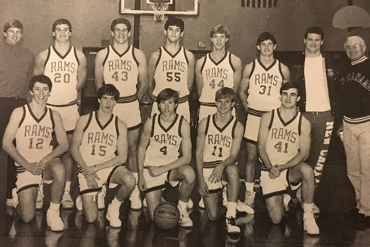 The 1989 New Canaan Rams, led by head coach Don Usher (back row, far right), finished as the runners-up in the state tournament. - Contributed photo