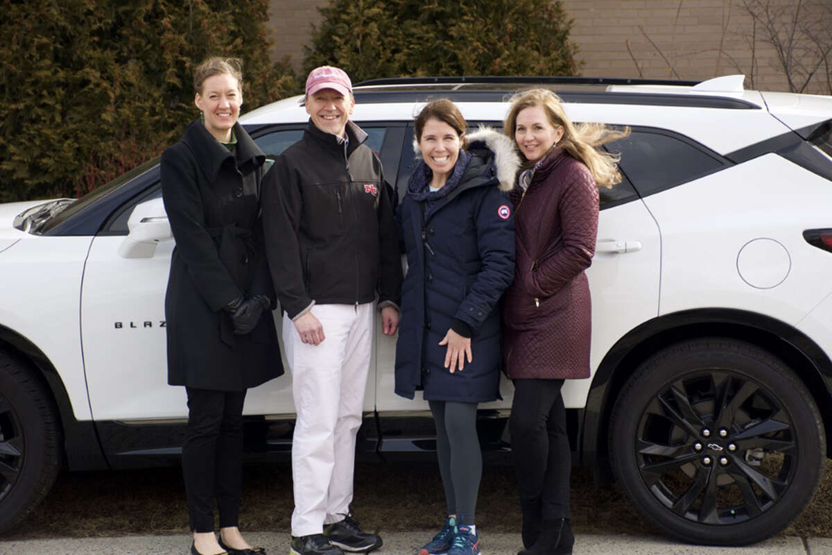Karl Chevrolet, and the Community Foundation is going to sponsor the New Canaan Color Run, April 27, 2019. Karl Chevrolet and New Canaan Community Foundation are sponsors for the NC Color Run. Lauren Patterson, President & CEO, New Canaan Community Foundation; Steve Karl, VP Sales, Karl Chevrolet; Kate VanDussen, NC Color Run; Lori Byrne, NC Color Run.- Contributed photo