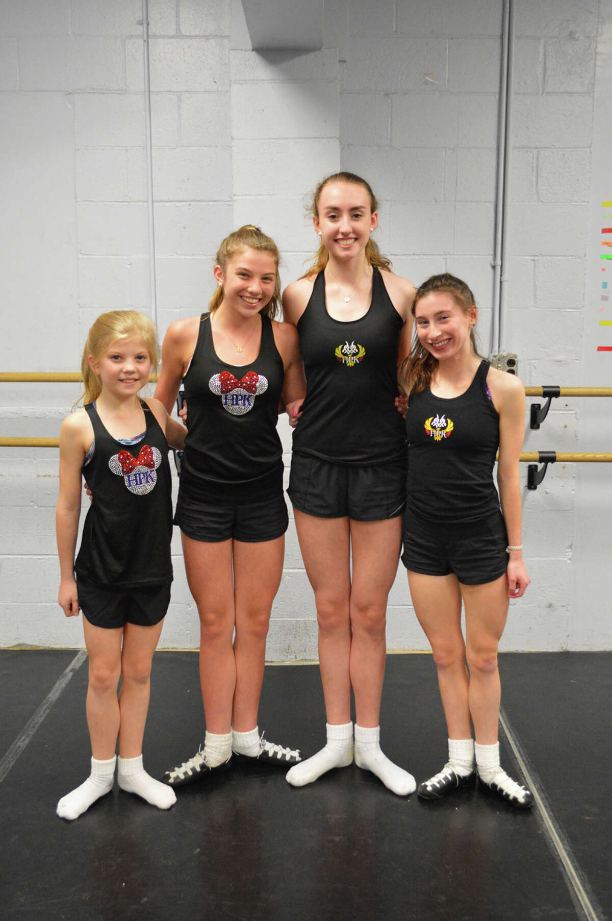 Dancers, Leighton Busby, Bridget Hillmann, Shannon Jordan and Fiona Hickey will compete in the the Irish dance competition. - Contributed photo