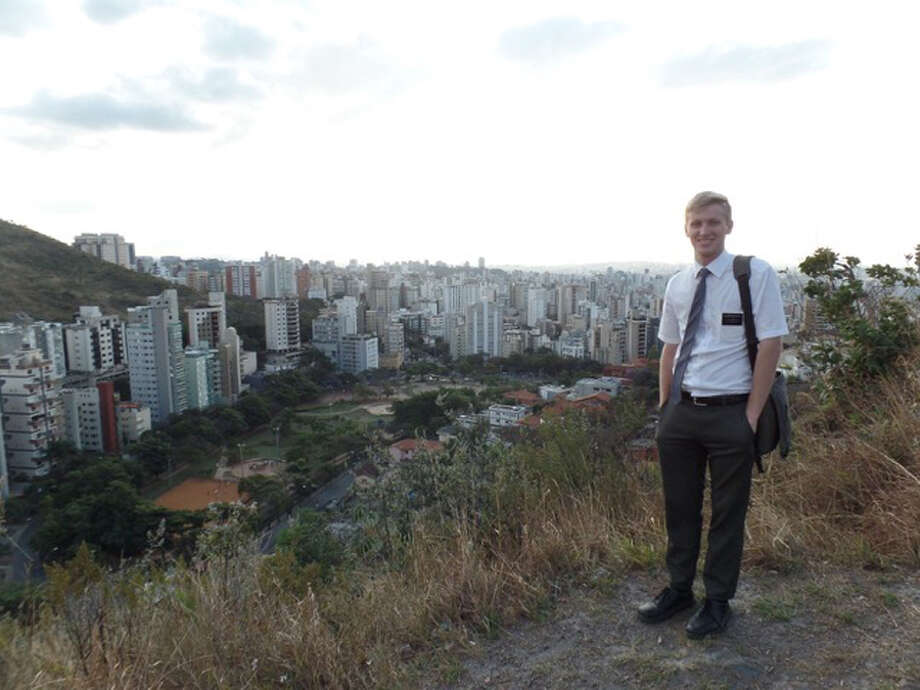 Elder Dewlin Rosdahl returns to New Canaan on Thursday, March 14, after serving a two-year mission for The Church of Jesus Christ of Latter-day Saints in Belo Horizonte, Brazil. — Contributed photo
