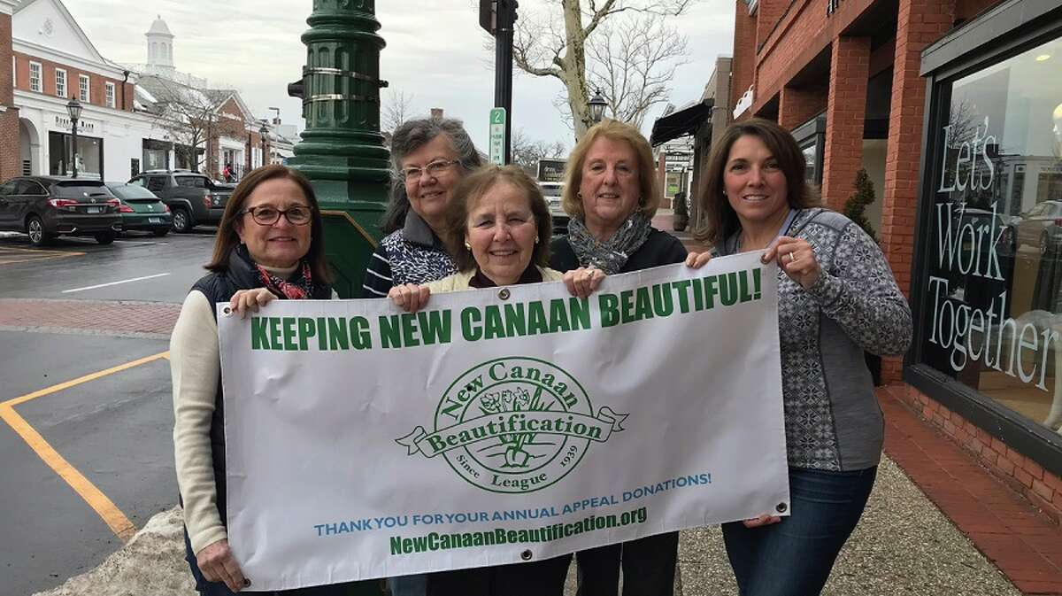 The New Canaan Beautification League annual letter appeal fundraiser began March 1. Volunteers shown are Dody Whitehurst, Faith Kerchoff, Karen Sneirson, Barbara Beall and Rose Bauersfeld.