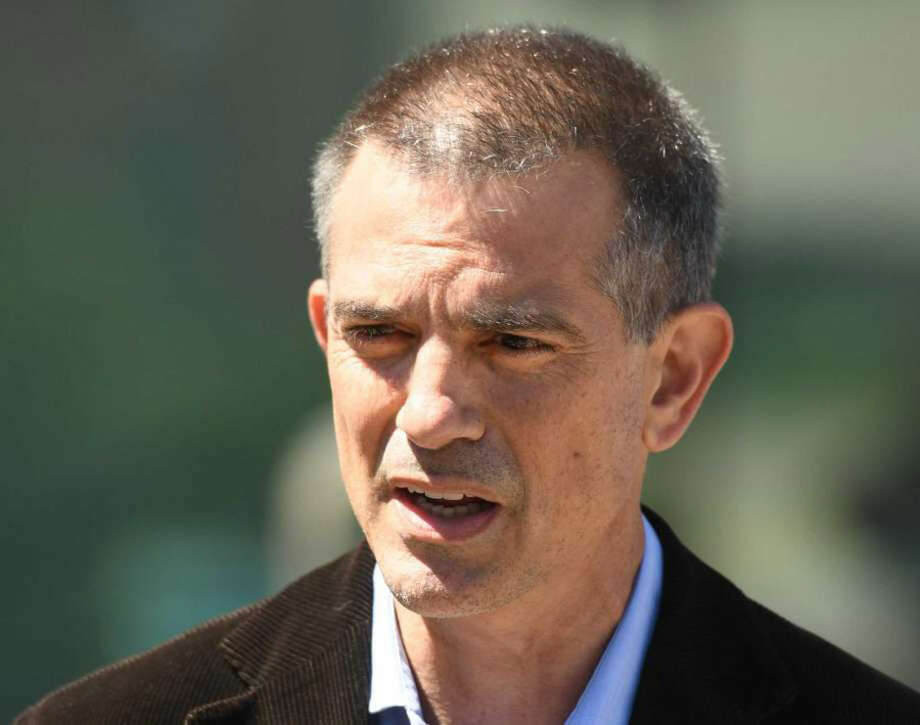 Fotis Dulos speaks after making an appearance at Connecticut Superior Court in Stamford, Conn. Wednesday, June 26, 2019. Fotis Dulos appeared with his attornies, Norm Pattis and Rich Rochlin, for a hearing Wednesday on motion by a divorce attorney for Jennifer Dulos to have Fotis Dulos and his attorneys held in contempt and for the court to impose sanctions for violating a judge's order that sealed a custody and psychological evaluation conducted on the Dulos family. Photo: Tyler Sizemore / Hearst Connecticut Media