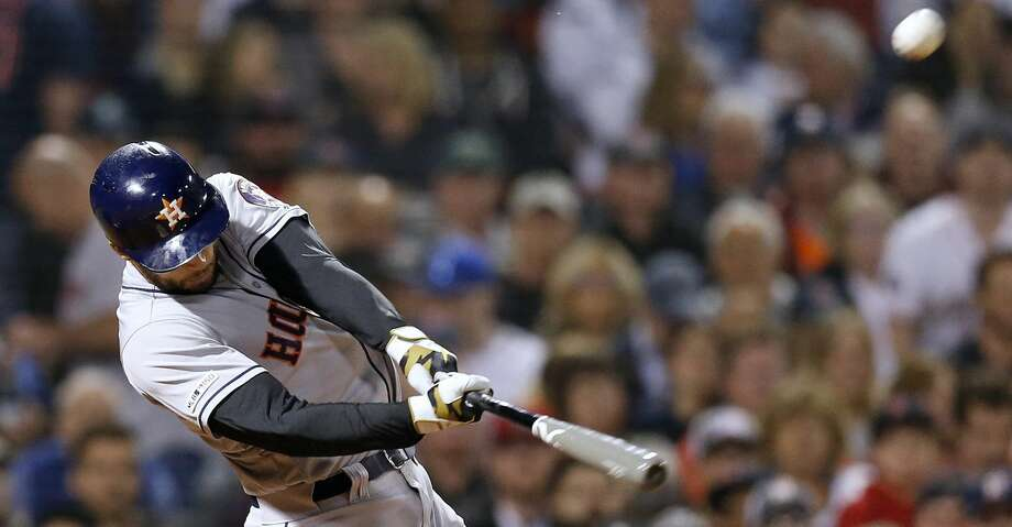 PHOTOS: Astros game-by-game Houston Astros' George Springer hits a two-run home run during the eighth inning of the team's baseball game against the Boston Red Sox in Boston, Friday, May 17, 2019. (AP Photo/Michael Dwyer) Browse through the photos to see how the Astros have fared in each game this season. Photo: Michael Dwyer/Associated Press