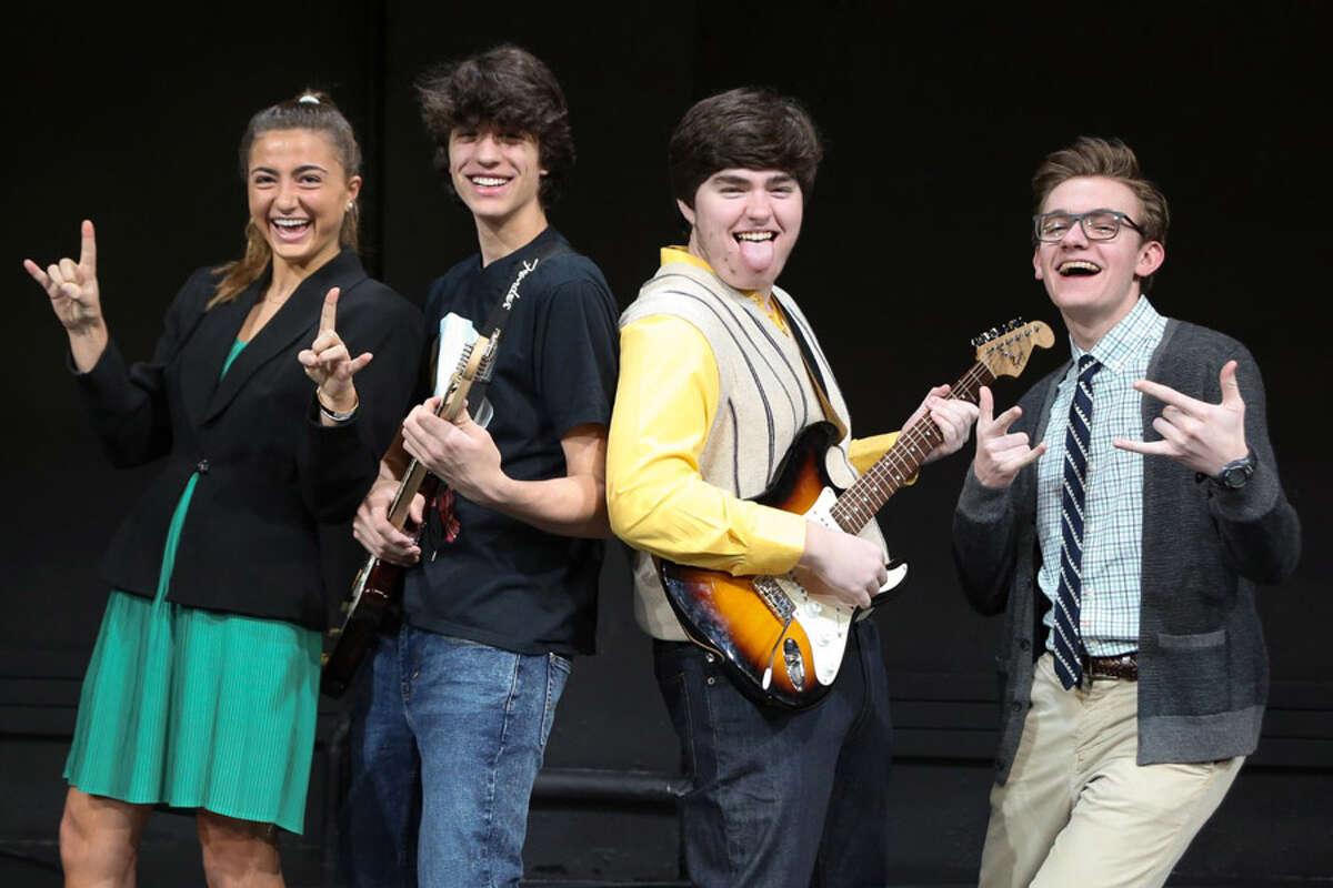 St. Luke's musical School of Rock will run for three performances, Feb. 22 to 24. Cast shown are Katie Libman, Adrian Antonioli, Cameron Tyler and Henry Jodka.