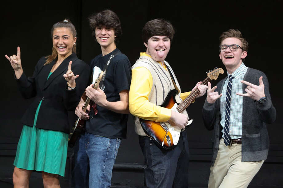 St. Luke's musical School of Rock will run for three performances, Feb. 22 to 24. Cast shown are Katie Libman, Adrian Antonioli, Cameron Tyler and Henry Jodka.