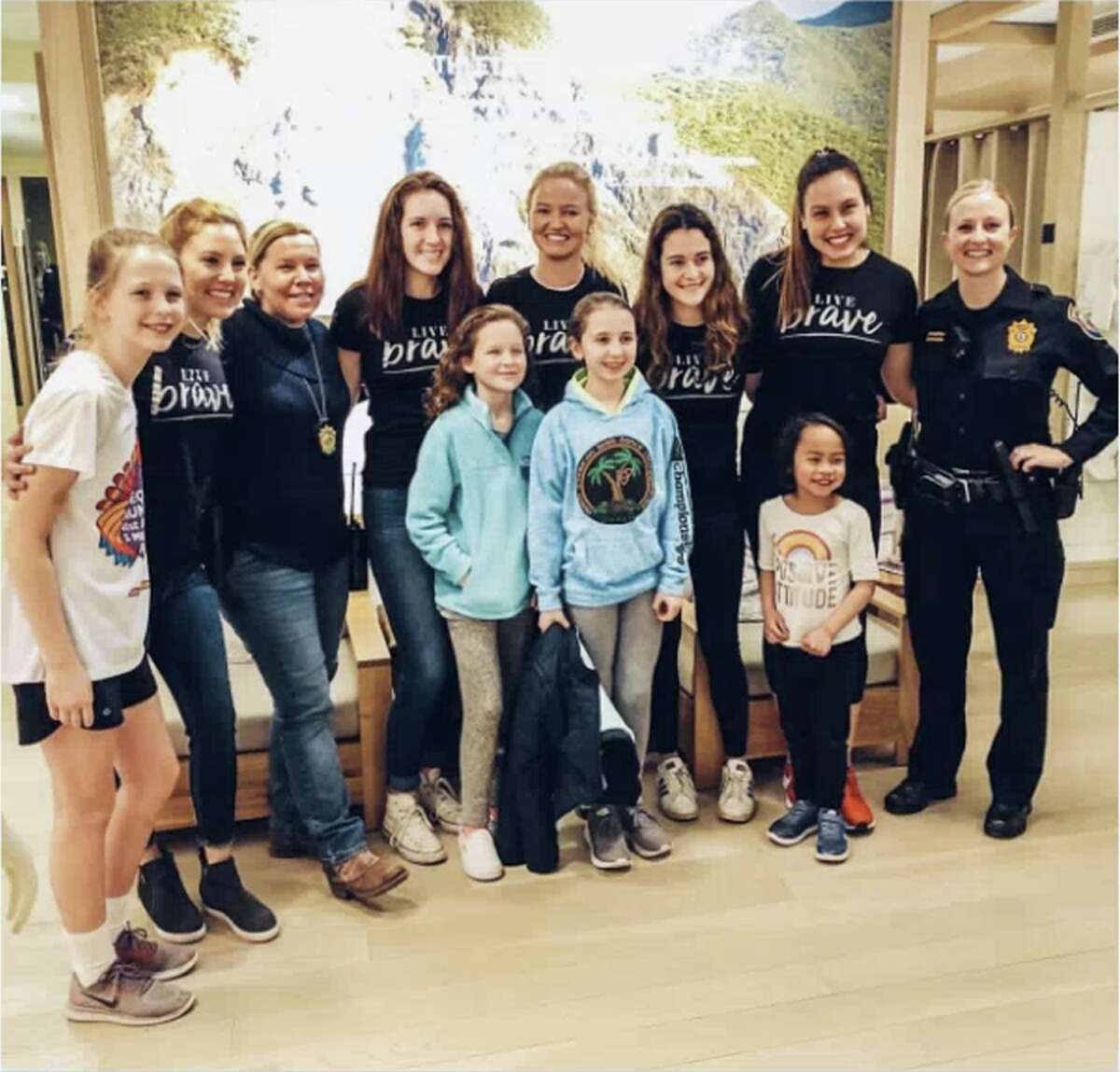 Many area girls attend an event run by New Canaan based LiveGirl and Athleta called