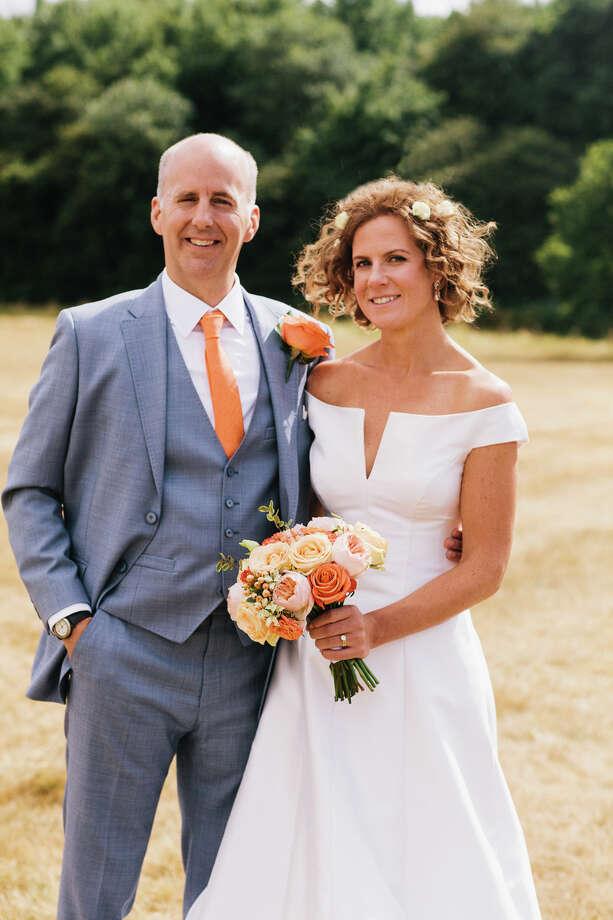 Erik Theodore Chabot of New Canaan recently married Elizabeth Rachel Simkin in Little Gaddesden, England. / Connecticut Post