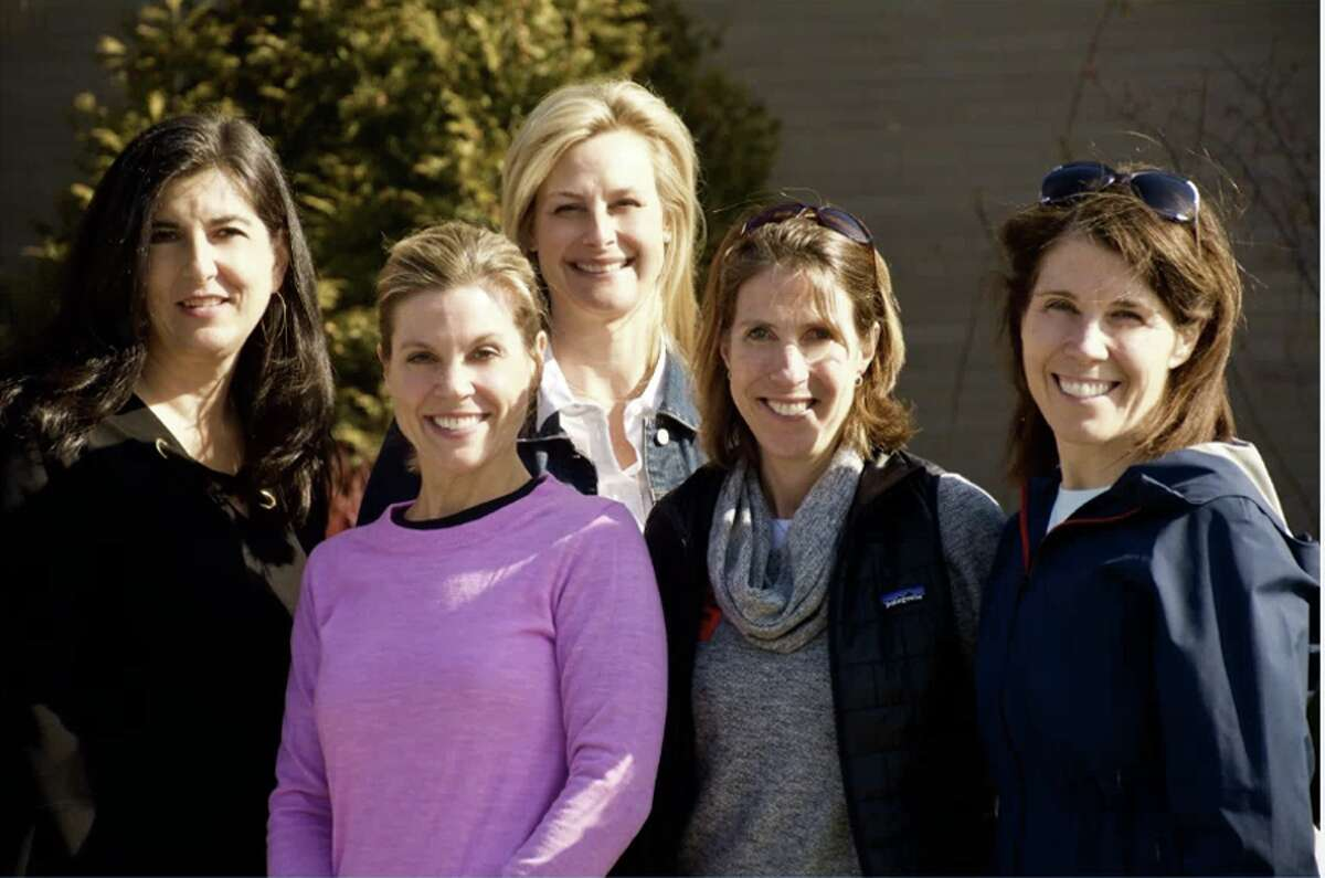 The New Canaan High School Scholarship Foundation will host its Third Annual NC Color Run on April 27 at 9 a.m. at New Canaan High School. From left are Kelly DeFrancesco, April + Kelly at William Raveis; April Kaynor, April + Kelly at William Raveis; Heather Rechtermann, April + Kelly at William Raveis; Susie Catlin, NC Color Run; Kate Van Dussen, NC Color Run.