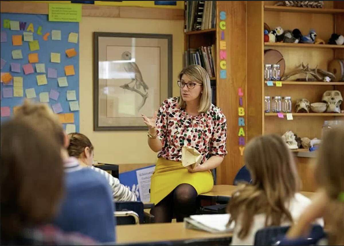 New Canaan Country School science teacher Lindsay Frey works to eliminate bias and stereotypes from the classroom.