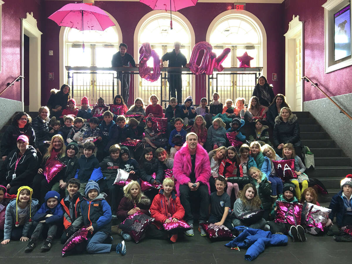 New Canaan Country School kids recently visited a nonprofit theater, to meet employees of the theater known as 'prospects.'