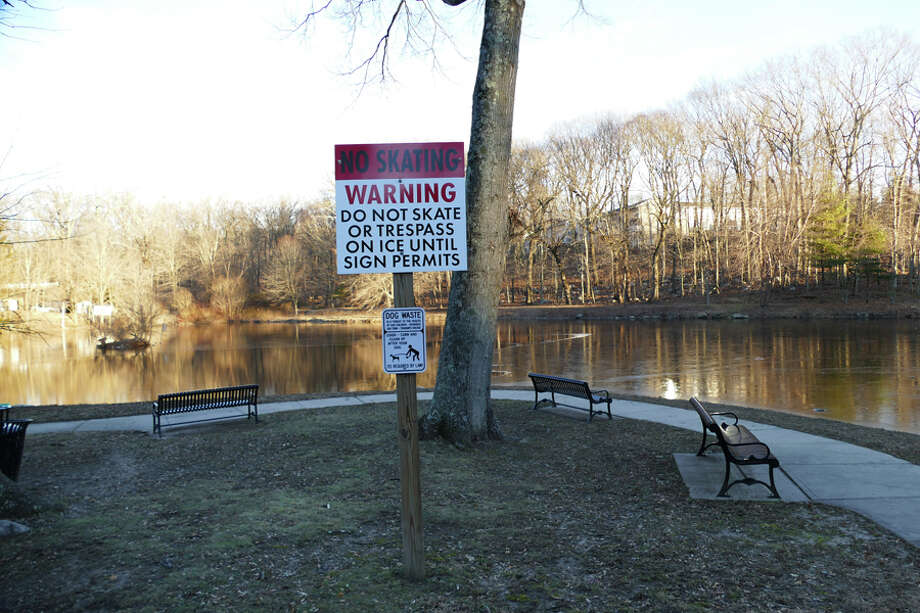 Skaters may not have to wait for Mill Pond to freeze if a study finds support for an outdoor skating rink in New Canaan. — Grace Duffield photo