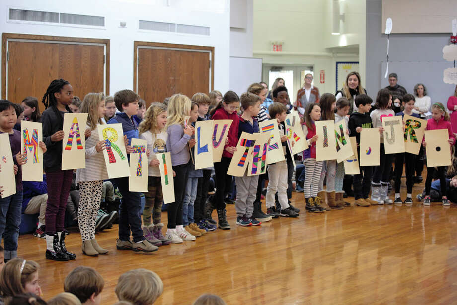 Schoolwide assemblies in New Canaan honored Dr. Martin Luther King Jr. New Canaan Country School students in grades 1-4 sang songs, shared artwork and offered personal reflections at an assembly held in honor of Martin Luther King, Jr. Jan. 18.