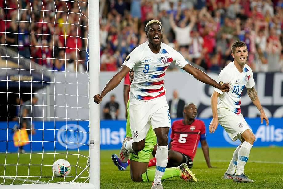 Gyasi Zardes and the U.S. men are flying high at the Gold Cup, winning their first two group games. Photo: Kirk Irwin / Getty Images