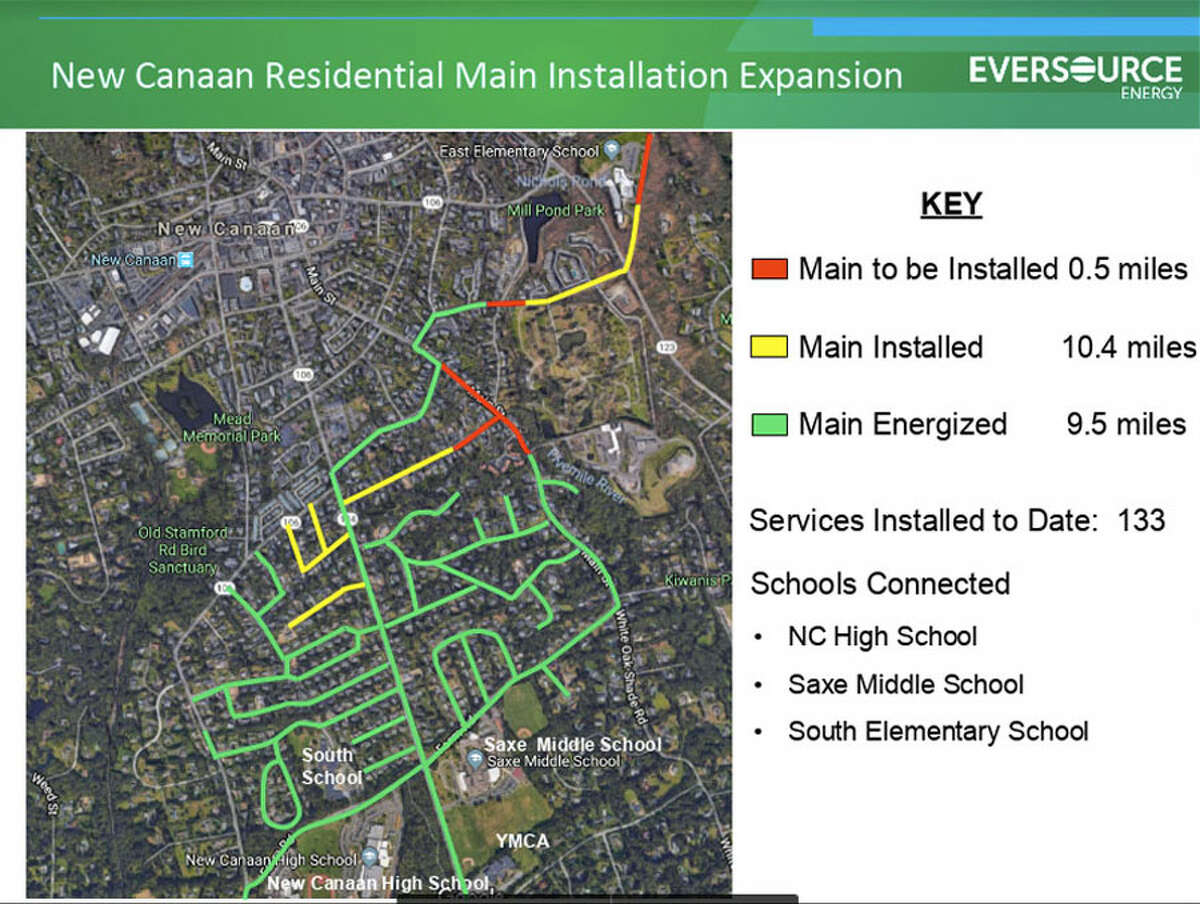 The Gas Expansion Construction Project continues in New Canaan this Monday, Jan. 7, 2019 through Saturday, Jan. 12, 2019.